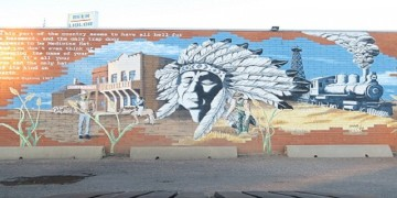 Native America painting on wall