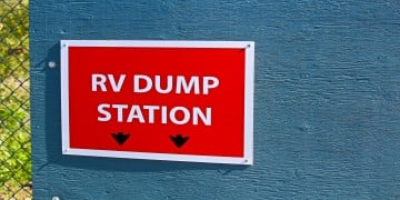 RV Dump Station Sign