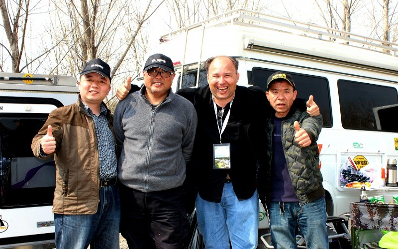 Tim from MRV The Buzz in China with friends