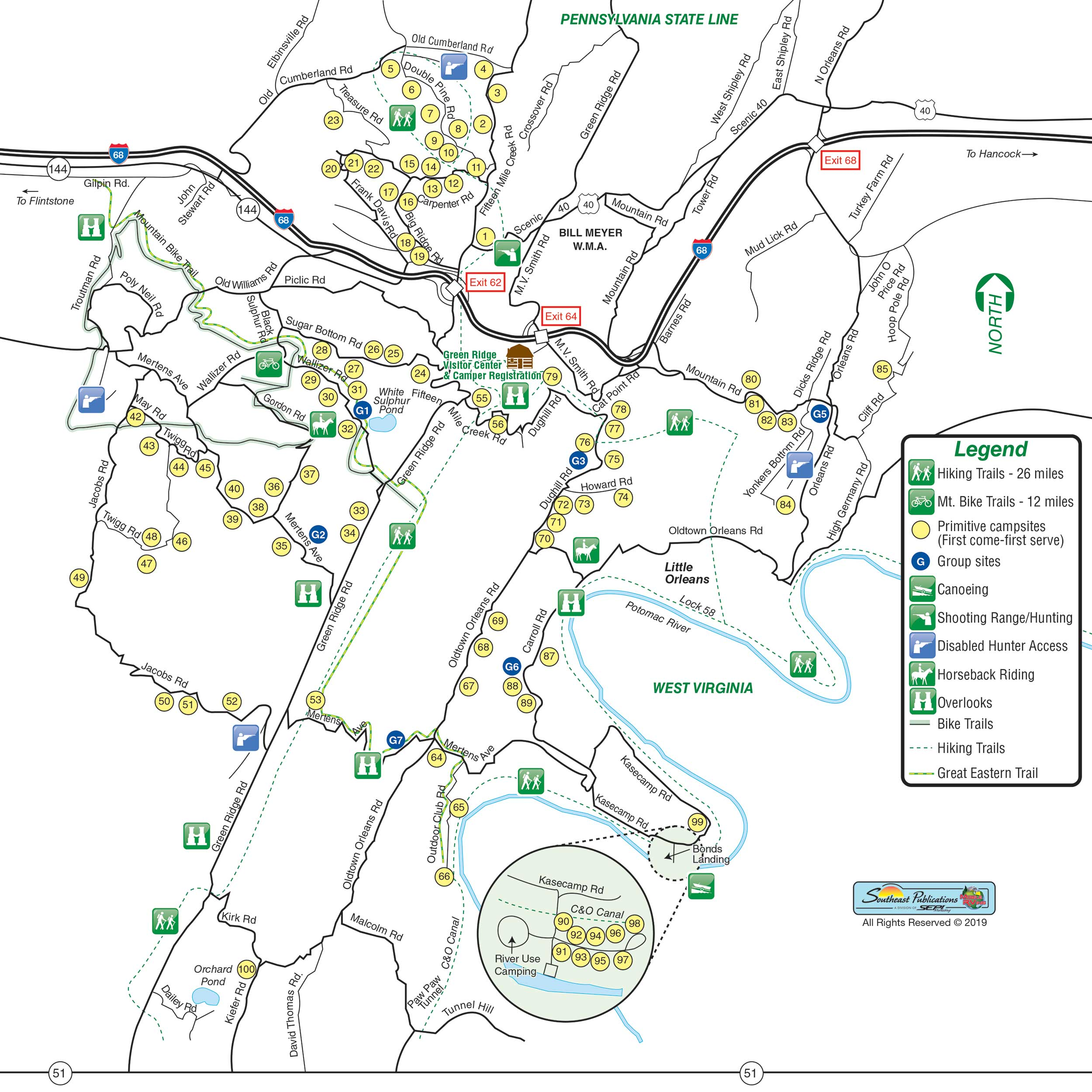 Green Ridge State Forest Camping Map Green Ridge State Forest in Flintstone, Maryland | Amenities