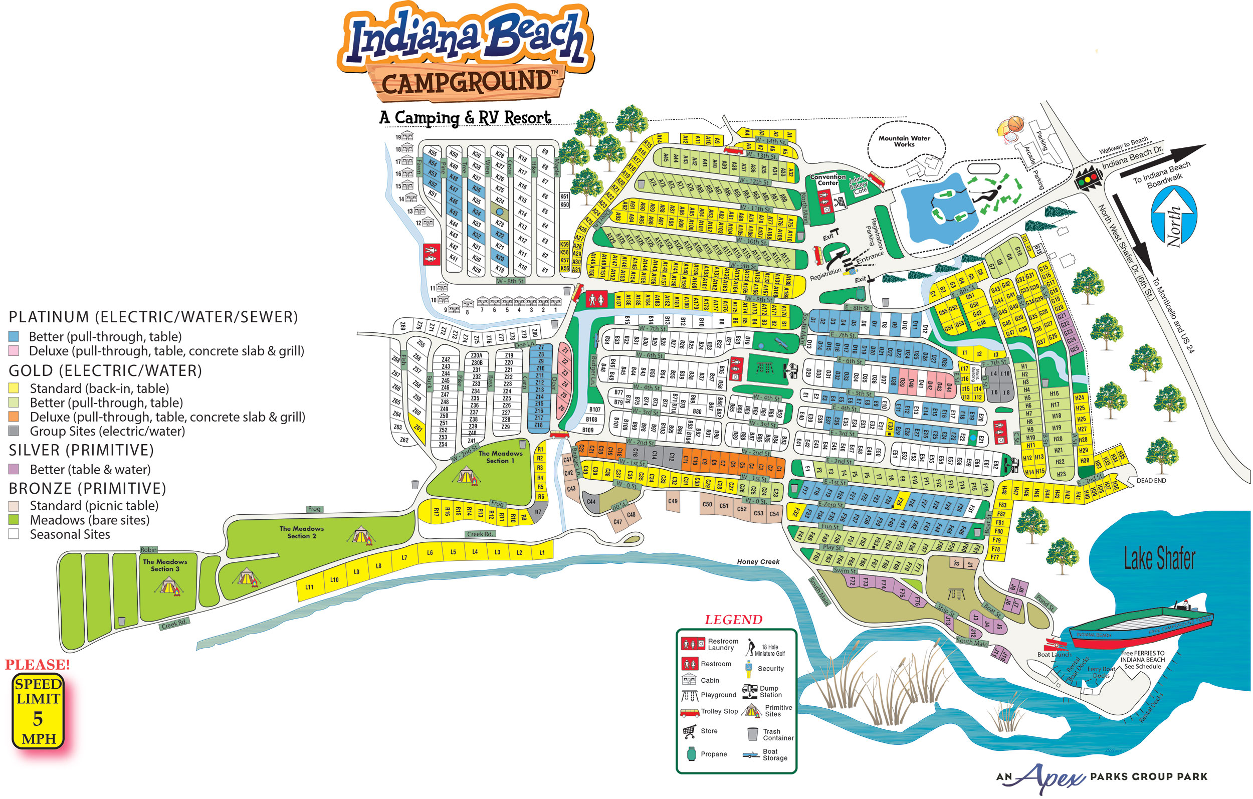 Indiana Beach Campground in Monticello, Indiana | Amenities