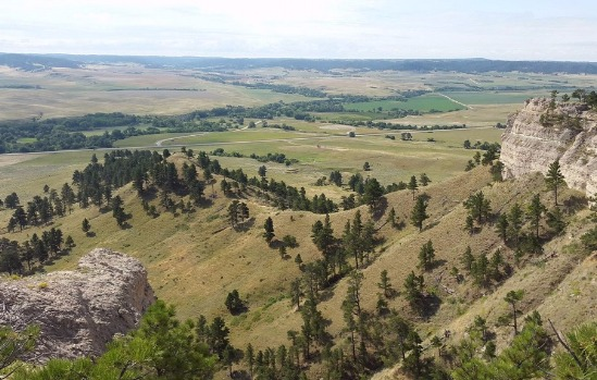 Aerial View Of The Large Nebraska State Park [Courtesy/Fort Robinson State Park]