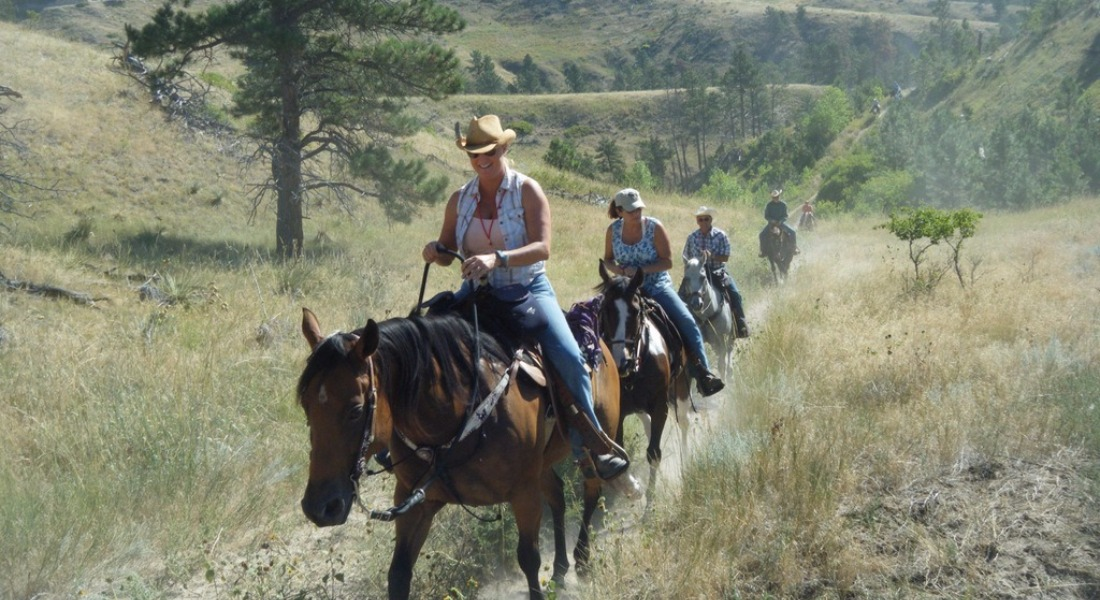 Horse Riders On Equestrian Trail At Fort Robinson [Courtesy/Fort Robinson State Park]