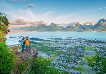 Kids Look Down At The Beautiful View Of Valdez [Photo Credit: Alaska Photography]