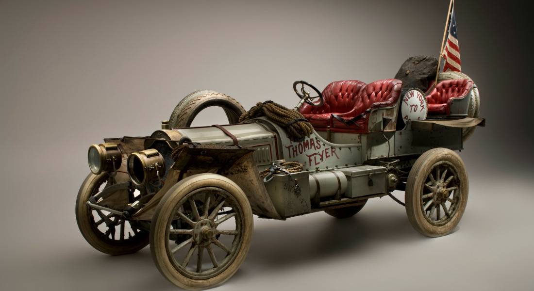 1907 Thomas Flyer, Winner Of  The 1908 New York To Paris Auto Race [Courtesy/National Mobile Museum]