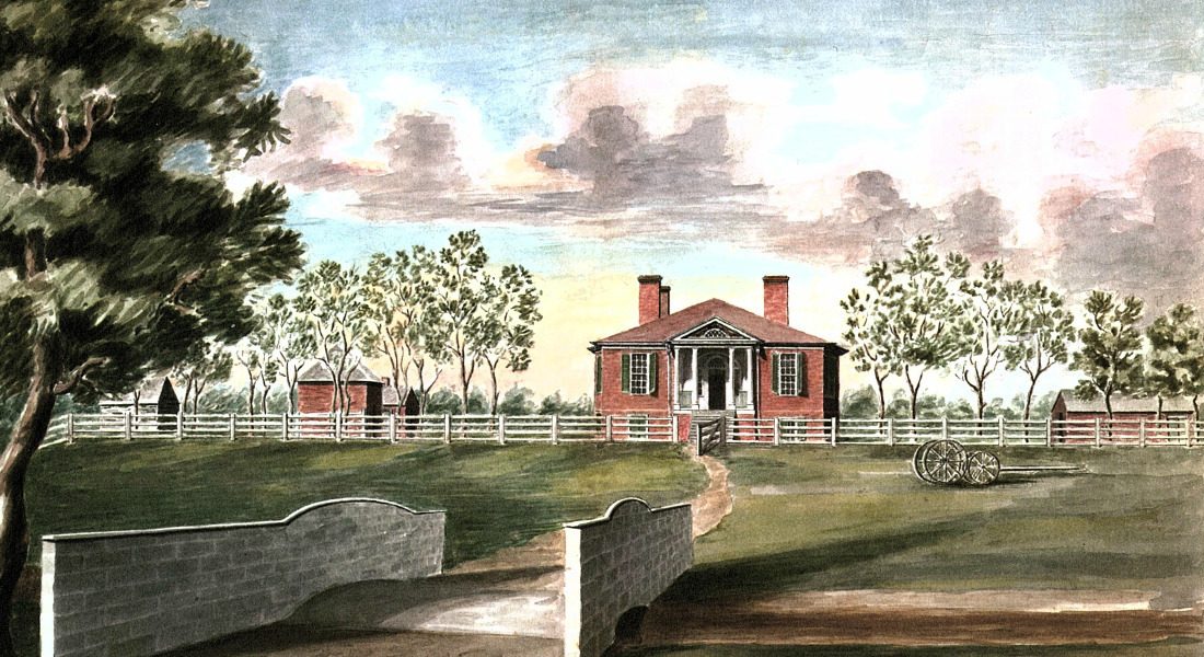 Painters Rendering Of Farmington Plantation in the Mid 1800s. [Courtesy: Farmington Plantation]