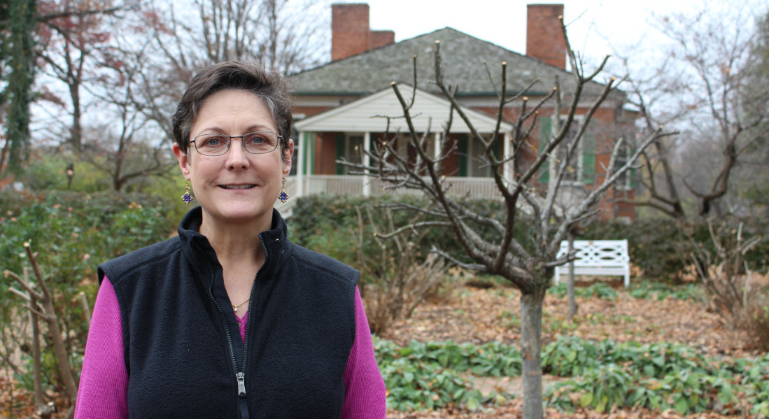 Ailene Meiman Outside Farmington House In Louisville, Kentucky. [Photo Credit: Tim Wassberg]
