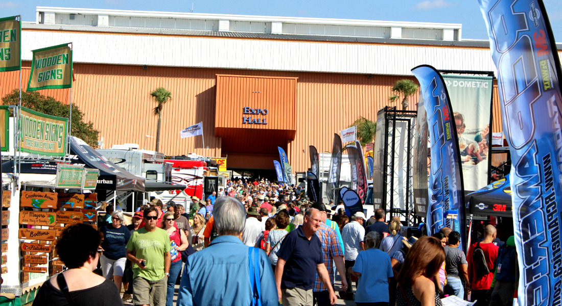 More Buyers Checking Out At RVs at the Tampa RV Super Show. [Photo Credit: Tim Wassberg]