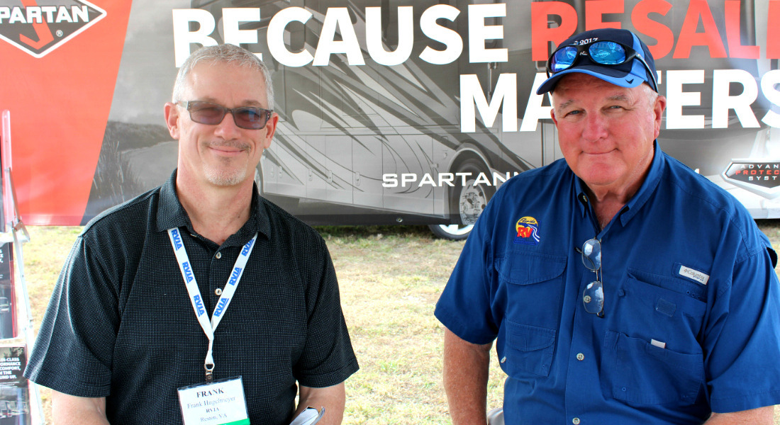 Frank Hugelmeyer of RVIA & Lance Wilson of FRVTA at the Tampa RV Super Show. [Photo Credit: Tim Wassberg]