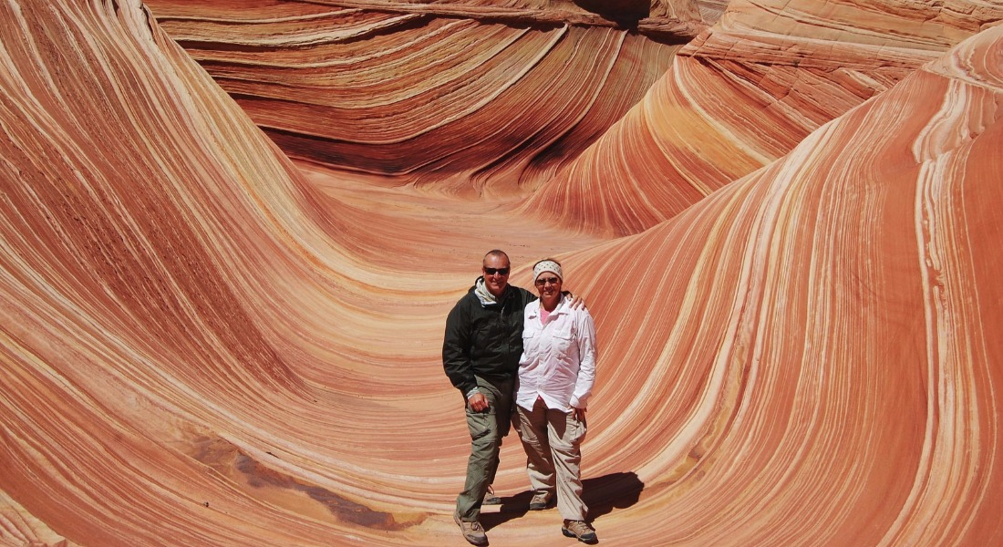 "Howard & Linda On The ""Wave"", Or The North Coyote Buttes [Courtesy/The Paynes]"
