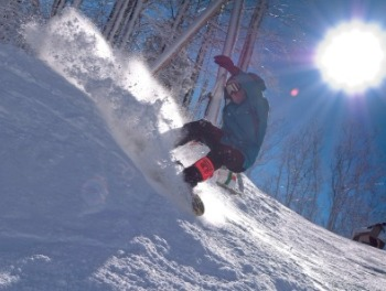 Skiing on mountain in Ober Gatlinburg resort [Photo Courtesy: Gatlinburg.com]