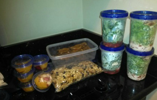Williams Food Prep For The Road [Courtesy/JoAnn Williams]