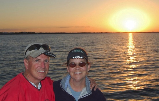 The Paynes On Key Largo At Sunset During Fishing Trip [Courtesy/The Paynes]