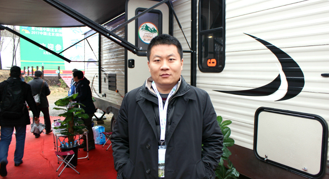 Zhong Guang Xian at the Beijing (China) RV Show & Camping Exhibition. [Photo Credit: Tim Wassberg]
