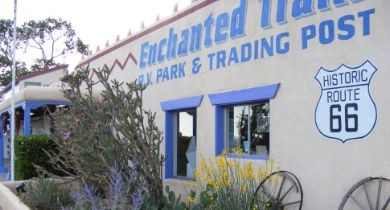 Image for Heydays And Western Ways: Enchanted Trails RV Park & Trading Post [New Mexico]